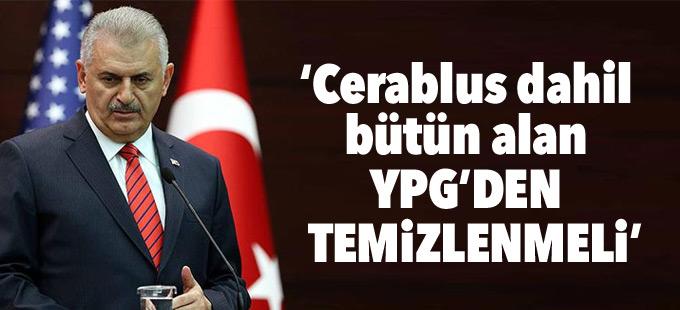 Yıldırım: Cerablus dahil bütün alan YPG'den temizlenmeli