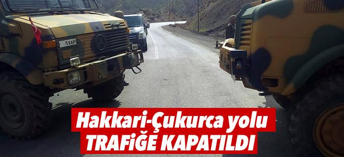 Hakkari-Çukurca yolu trafiğe kapatıldı