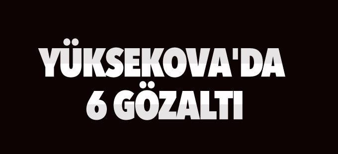 Yüksekova'da 6 gözaltı