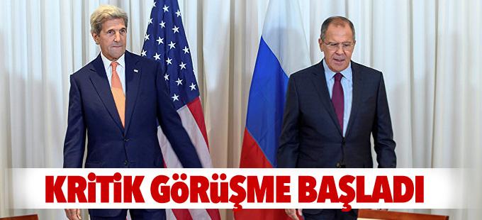 Lavrov ve Kerry'nin Suriye görüşmesi başladı