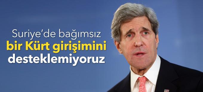 ABD: Suriye'de bağımsız bir Kürt girişimini desteklemiyoruz