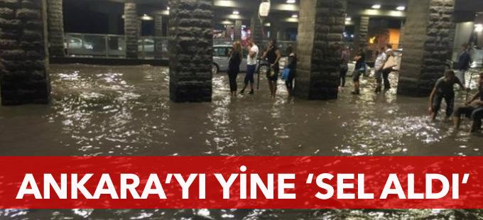 Ankara'yı yine 'sel aldı'
