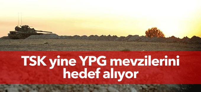 TSK yine YPG mevzilerini hedef alıyor