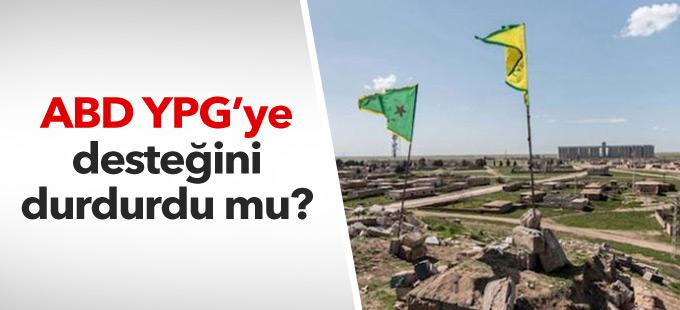 'ABD YPG'ye desteğini geçici olarak durdurdu' iddiası