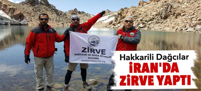 Hakkarili Dağcılar İran'da zirve yaptı