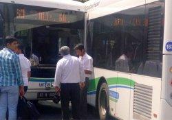 Urfa'da belediye yolcu otobüsleri çarpıştı