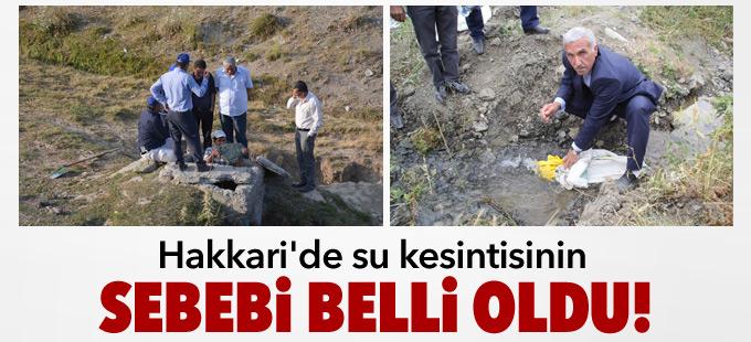 Hakkari'de su kesintisinin sebebi belli oldu!