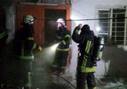 İki katlı binada yangın çıktı