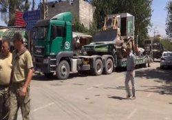 Suriye sınırına zırhlı iş makineleri sevk edildi