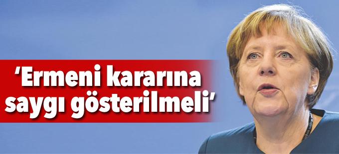 Merkel: Ermeni kararına saygı gösterilmeli