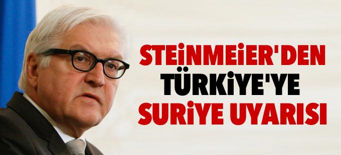 Steinmeier'den Türkiye'ye Suriye uyarısı