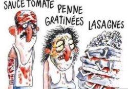 Depremde ölenleri makarnaya benzeten Charlie Hebdo'ya öfke