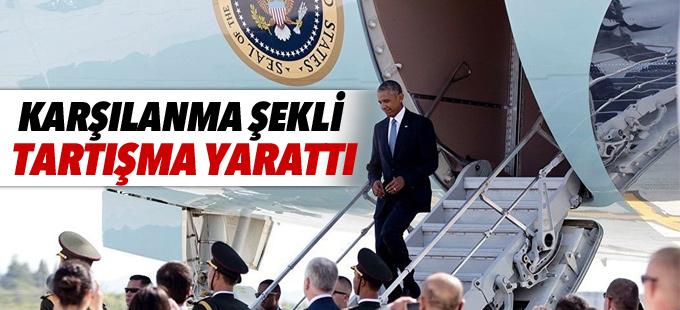 Obama'nın karşılanması tartışma yarattı