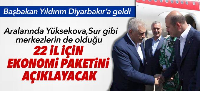 Yıldırım Diyarbakır'a geldi: 22 il için ekonomi paketini açıklayacak