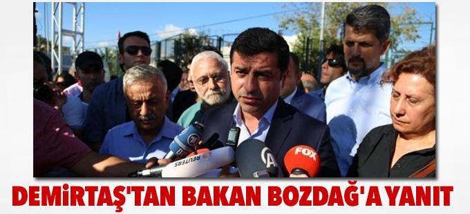 Demirtaş'tan Bakan Bozdağ'a yanıt