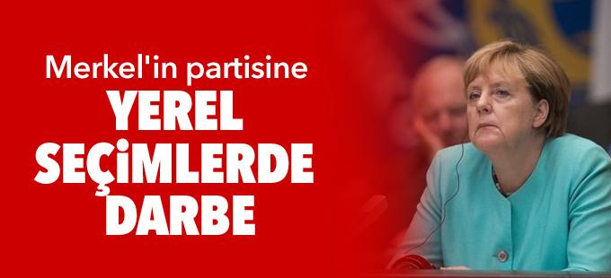 Merkel'in partisine yerel seçimlerde darbe