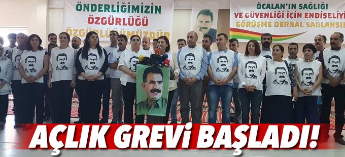 'Öcalan ile görüşülsün' talebiyle açlık grevi başlatıldı