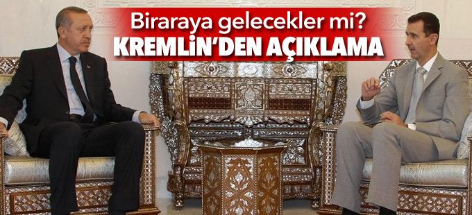 Erdoğan ve Esad bir araya mı gelecek? Kremlin'den açıklama