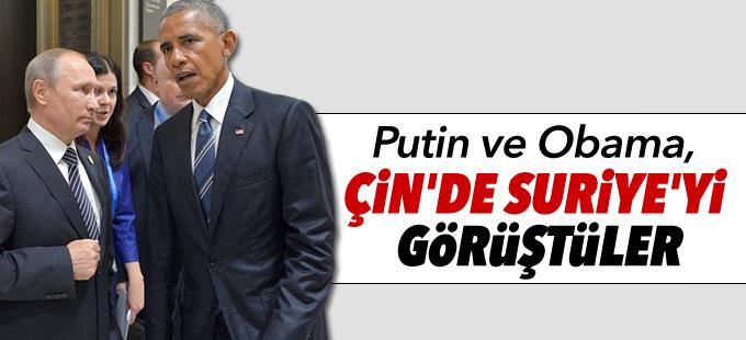 Putin ve Obama, Çin'de Suriye'yi görüştü