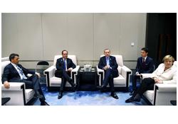 Erdoğan, Merkel, Hollande ve Renzi ile görüştü