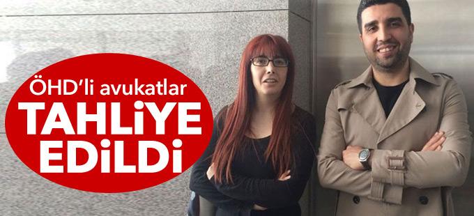ÖHD'li avukatlar tahliye edildi