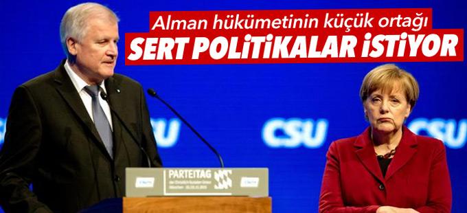 Alman hükümetinin küçük ortağı sert politikalar istiyor