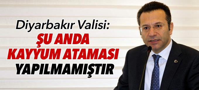 Diyarbakır Valisi: Şu anda kayyum ataması yapılmamıştır