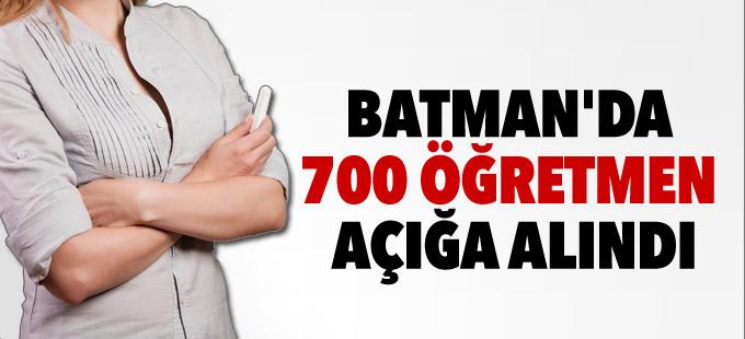 Batman'da 700 öğretmen açığa alındı