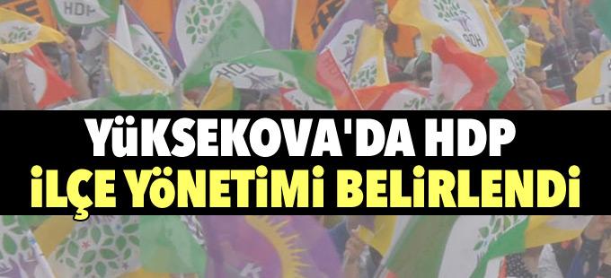 Yüksekova'da HDP ilçe yönetimi belirlendi
