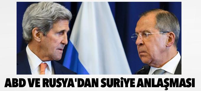 ABD ve Rusya'dan Suriye'de çatışmasızlık anlaşması