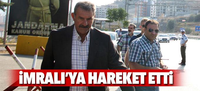 Mehmet Öcalan İmralı'ya hareket etti