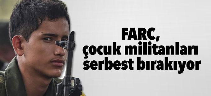 FARC, çocuk militanları serbest bırakıyor