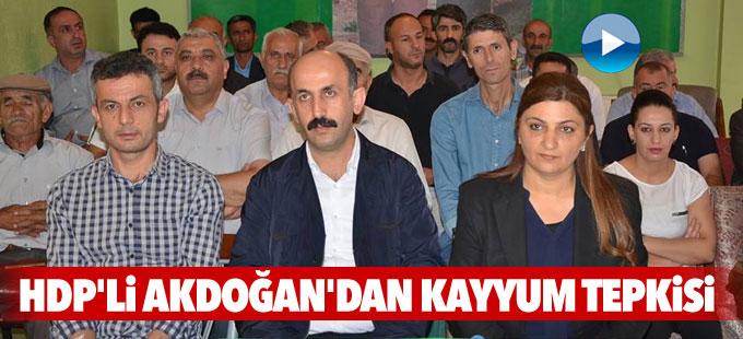 HDP'li Akdoğan'dan Kayyum tepkisi: Kabul etmiyoruz