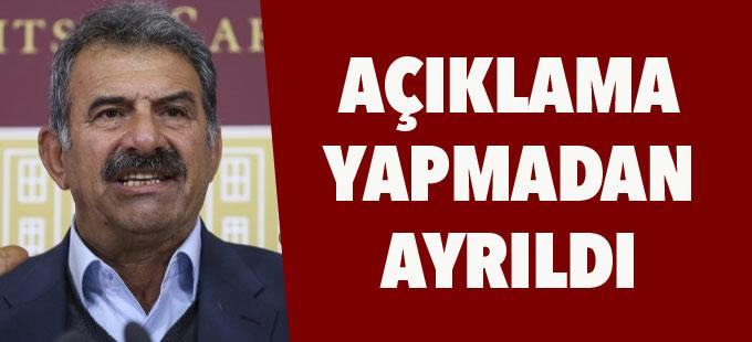 Mehmet Öcalan açıklama yapmadan ayrıldı
