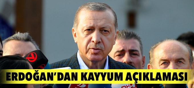 Erdoğan'dan belediyelere kayyum açıklaması