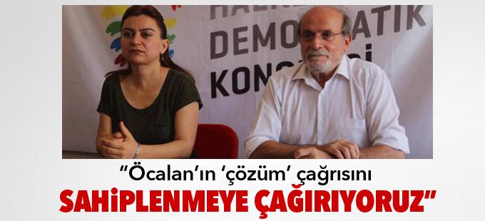 HDK: Öcalan'ın 'çözüm' çağrısını sahiplenmeye çağırıyoruz
