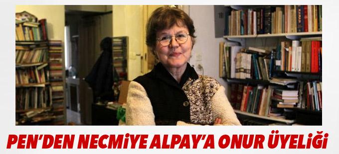 PEN'den Necmiye Alpay'a onur üyeliği