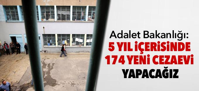 Adalet Bakanlığı: 5 yıl içerisinde 174 yeni cezaevi yapacağız