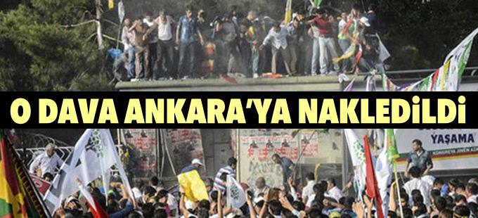 Diyarbakır'da HDP mitingine saldırı davası Ankara'ya nakledildi
