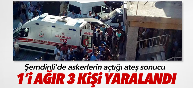 Şemdinli'de 3 kişi askerlerin açtığı ateş sonucu yaralandı