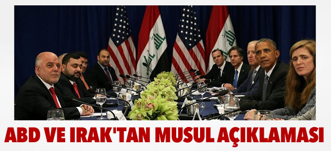 ABD ve Irak'tan Musul açıklaması