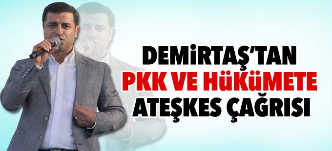Demirtaş'tan PKK ve hükümete ateşkes çağrısı