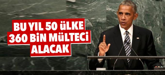 Obama: Bu yıl 50 ülke 360 bin mülteci alacak