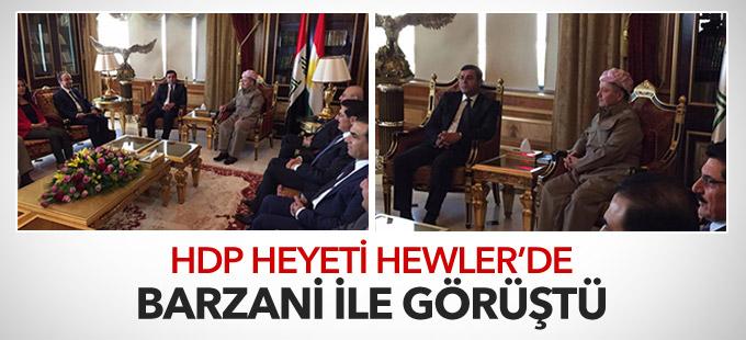 HDP heyeti Hewler'de Barzani ile görüştü