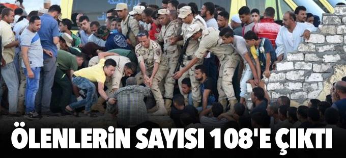 Mısır'da batan mülteci teknesinde ölenlerin sayısı 108'e çıktı