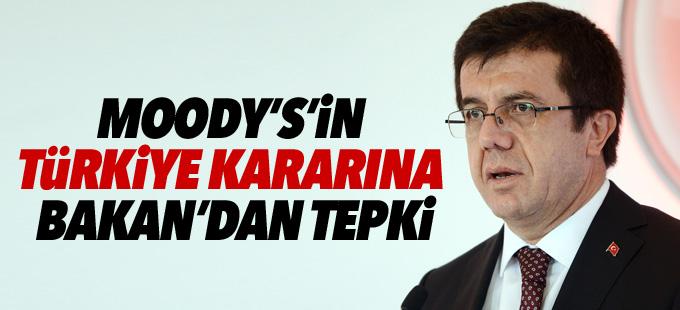 Moody's'in Türkiye kararına Bakan Zeybekci'den tepki