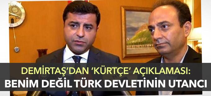 Demirtaş'tan Kürtçe açıklaması: Benim değil, Türk devletinin utancı