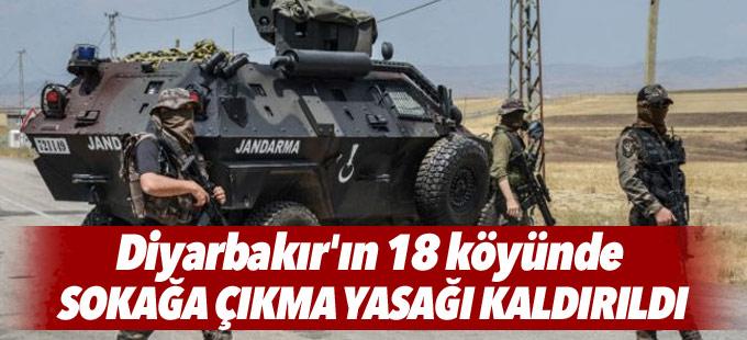 Diyarbakır'ın 18 köyünde sokağa çıkma yasağı kaldırıldı