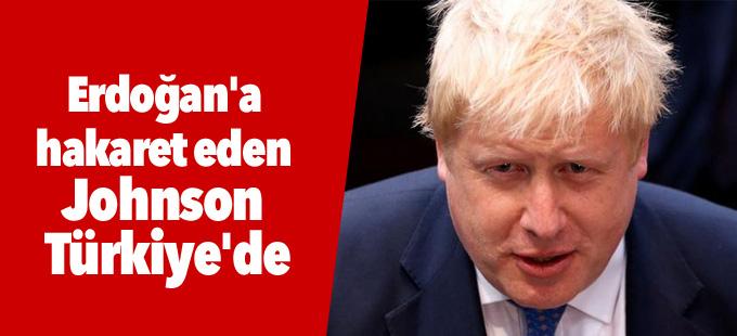 Erdoğan'a hakaret eden Johnson Türkiye'de