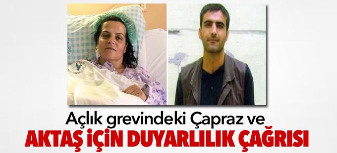 Açlık grevindeki Çapraz ve Aktaş için duyarlılık çağrısı